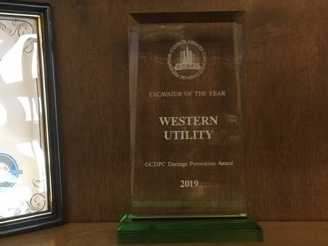 """Western Utility Named """"Excavator Contractor of the Year"""""""